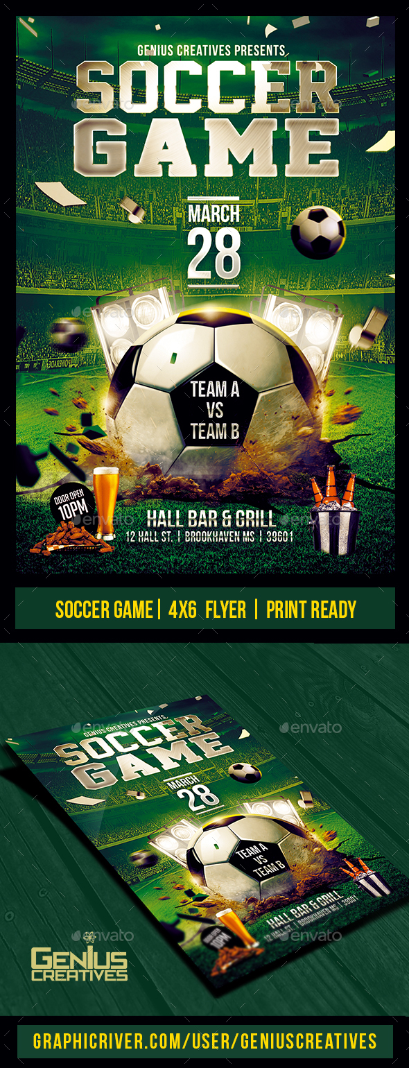GraphicRiver Soccer Game Flyer Template PSD 20530752