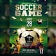 Soccer Game Flyer Template PSD
