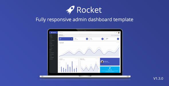 Rocket - Bootstrap 4 Admin Template + Pug2(JADE) Template Engine + BEM