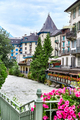 Arve river and buildings of Chamonix - PhotoDune Item for Sale