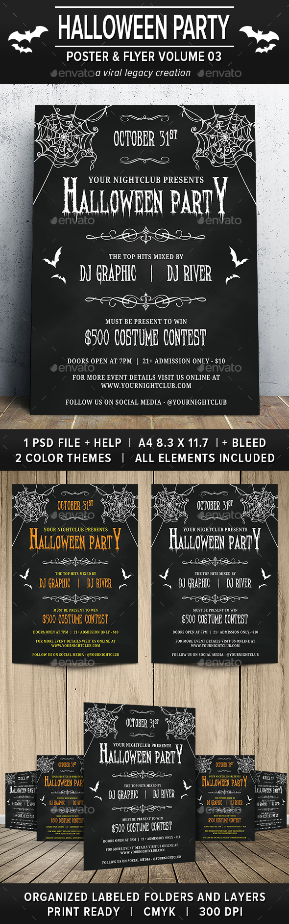 Halloween Party Poster / Flyer V03