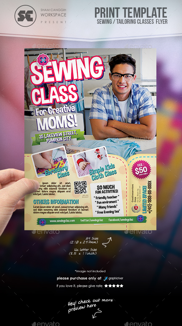 Sewing Class Flyer - Miscellaneous Events