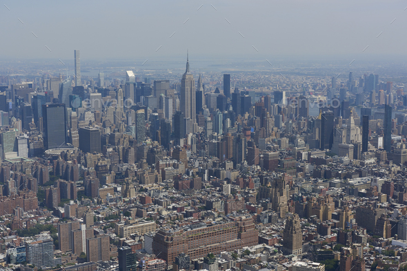 New York, USA seen from above - Stock Photo - Images
