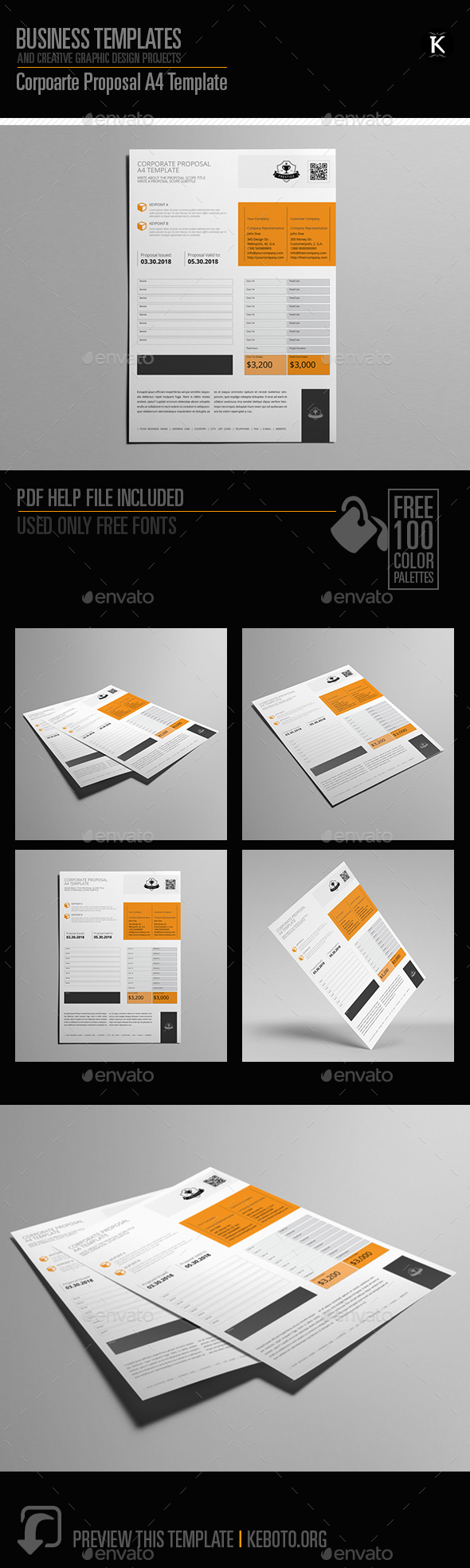 Corporate Proposal A4 Template - Proposals & Invoices Stationery