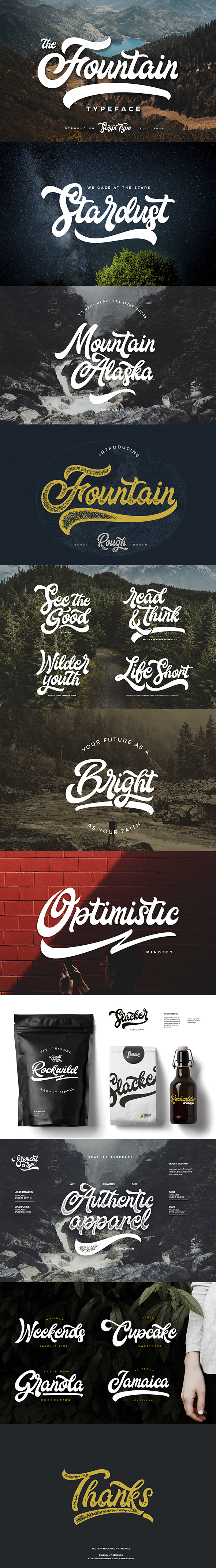 Fountain Type - Script Fonts