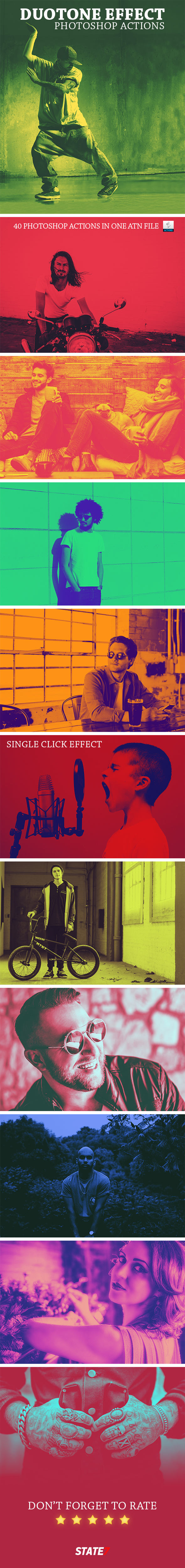 Duotone Photoshop Action - Photo Effects Actions