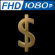 Dollar Sign in Gold With 360 Rotation
