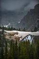 Melting Glacier Snow near lake Isabelle Vertical Composition