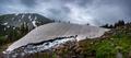 Melting Glacier Snow near lake Isabelle