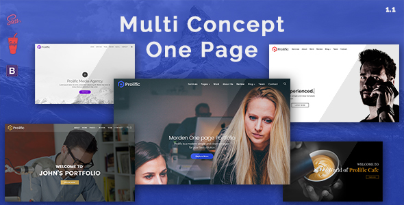 Prolific - Multi Concept One Page Bootstrap Parallax Template
