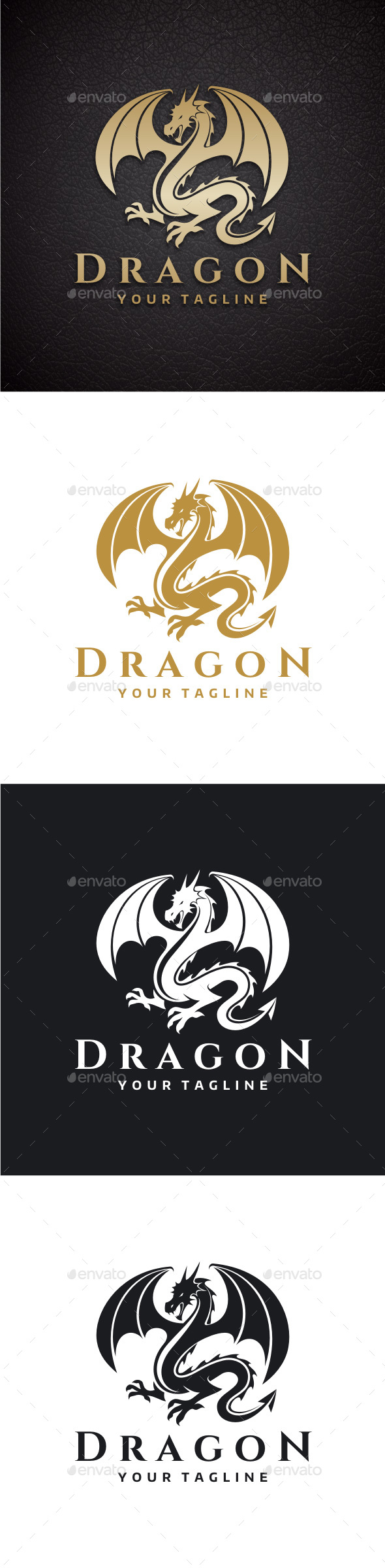 The Dragon Logo - Crests Logo Templates