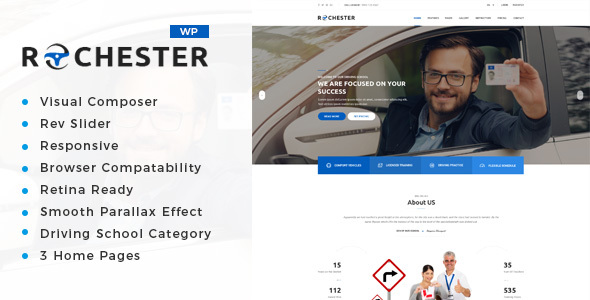 Rochester - Driving School WordPress Theme