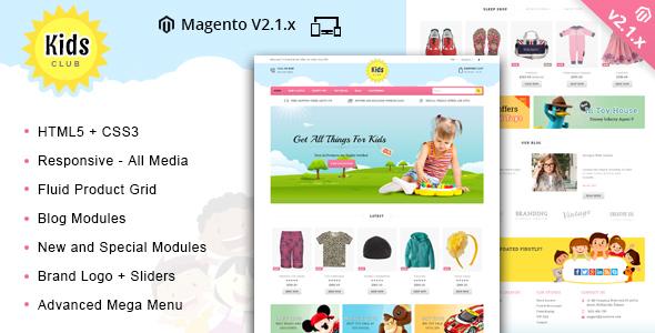 Kids Club - Responsive Magento 2 Theme