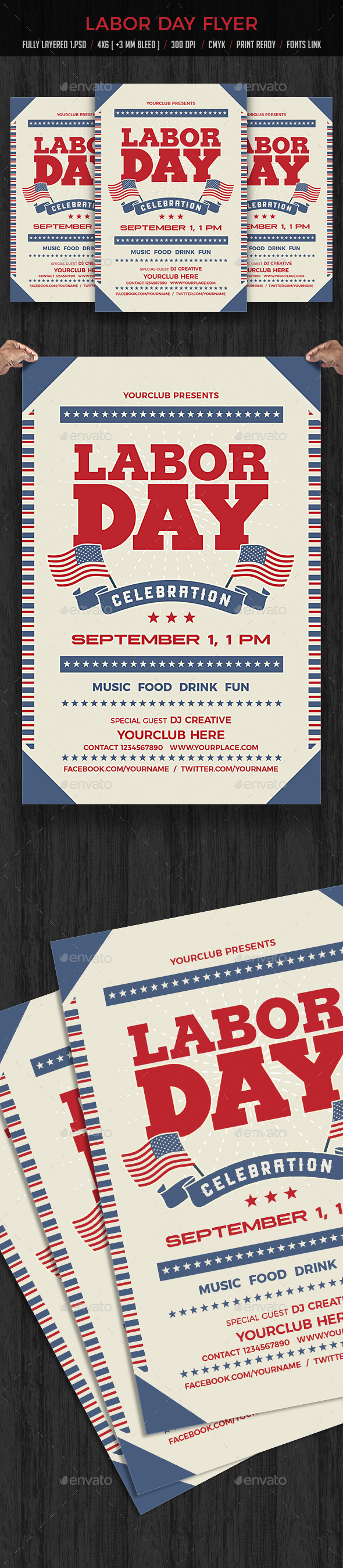 Labor Day Flyer - Holidays Events