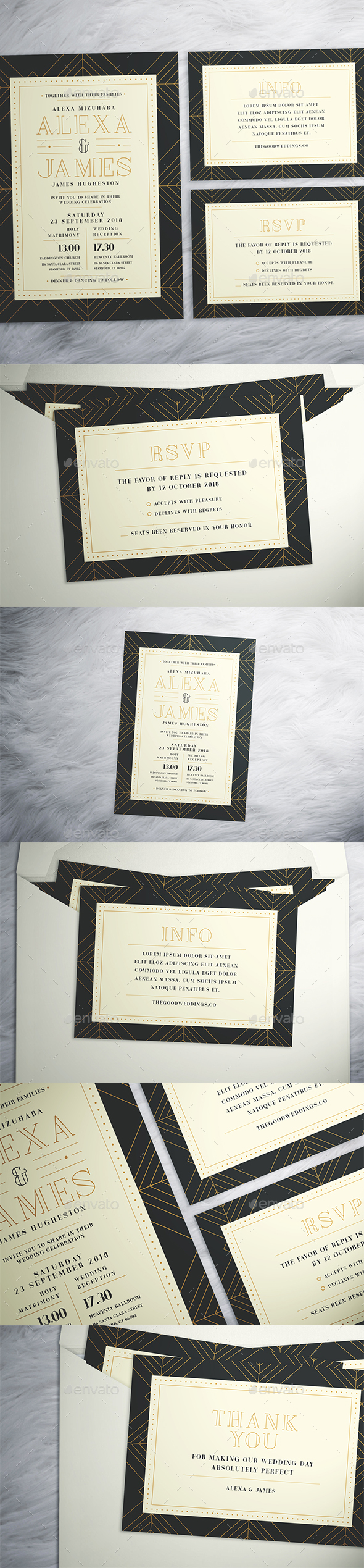 Art Deco Wedding Suite - Weddings Cards & Invites