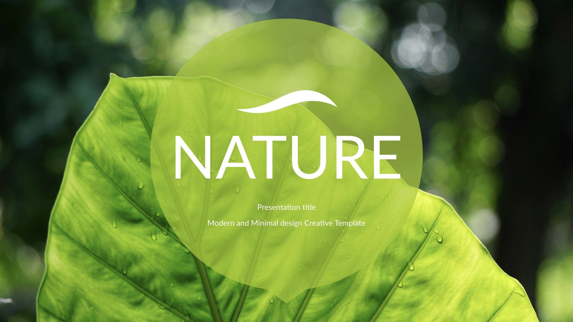 Nature simple creative keynote template by 5yue graphicriver nature004 nature007eg alramifo Choice Image