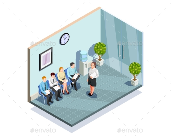 GraphicRiver Waiting For Interview Composition 20531995