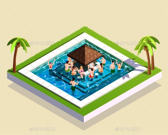 Pool House Party Composition - Miscellaneous Seasons/Holidays