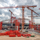 Industrial Cranes on Construction of Expressway Site in Asia - PhotoDune Item for Sale