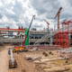 Construction Cranes Working on Expressway and Skytrain Site in Asia - PhotoDune Item for Sale