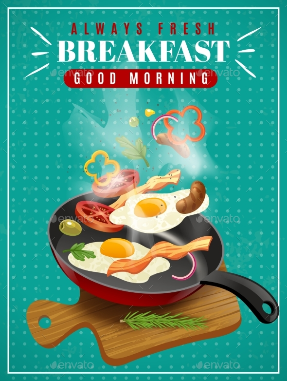 Fresh Breakfast Poster - Food Objects