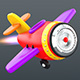 Cartoon jet  airplane