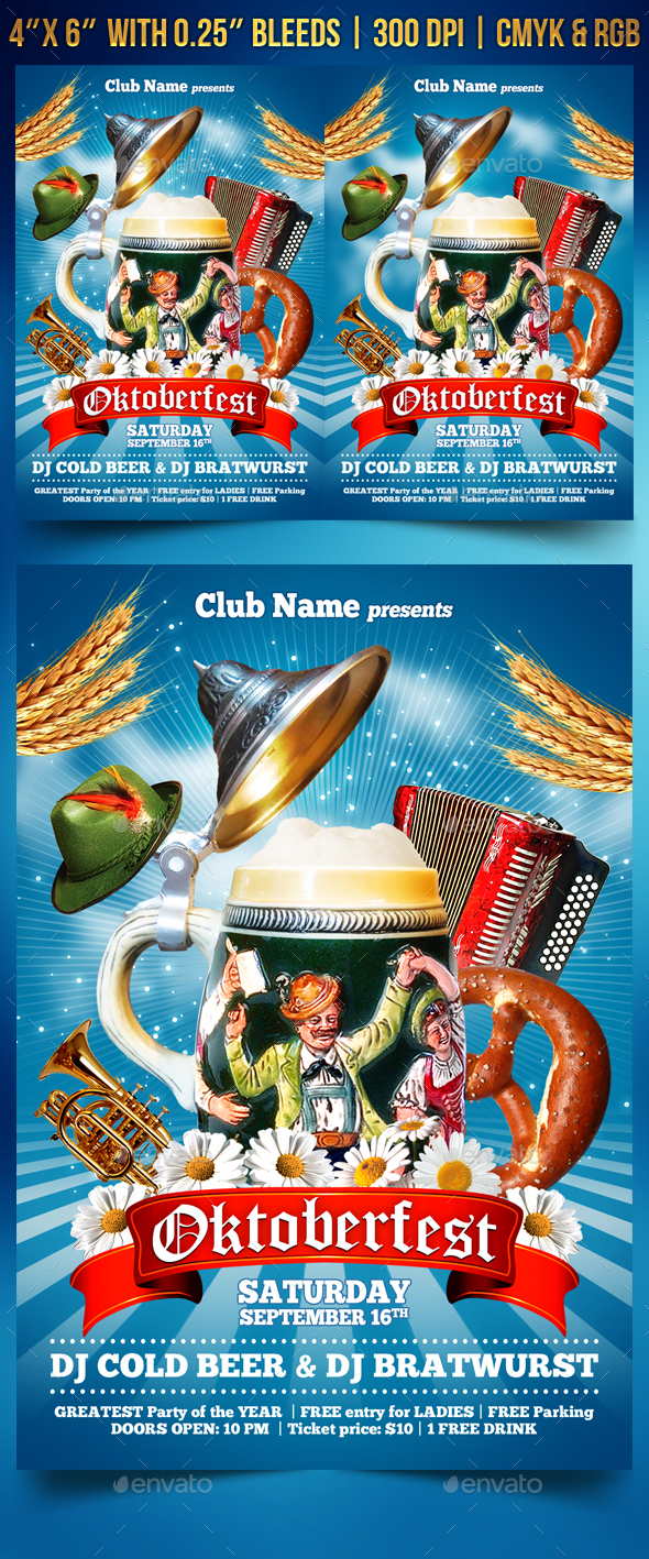 GraphicRiver Oktoberfest Party Flyer 20532139