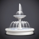 Fountains Realistic Isolated Transparent
