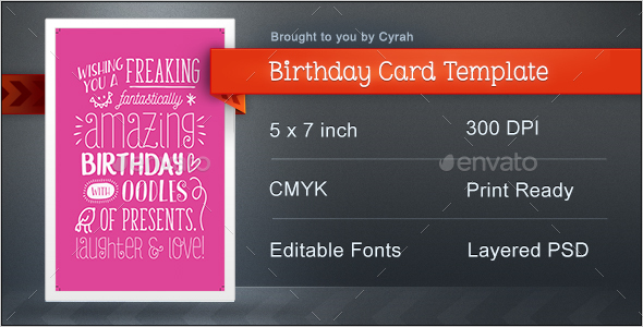 Birthday Card Template - Greeting Cards Cards & Invites