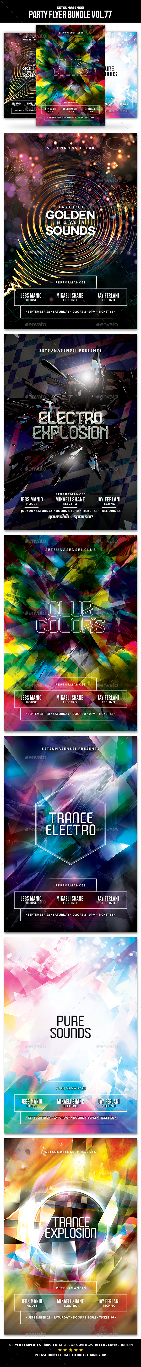 GraphicRiver Party Flyer Bundle Vol.77 20532382