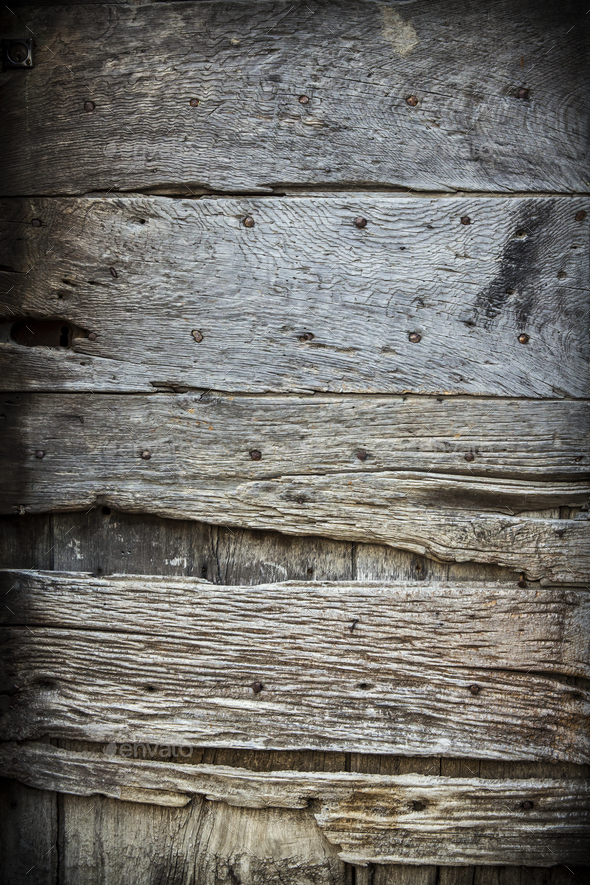 Old rustic wooden door - Stock Photo - Images