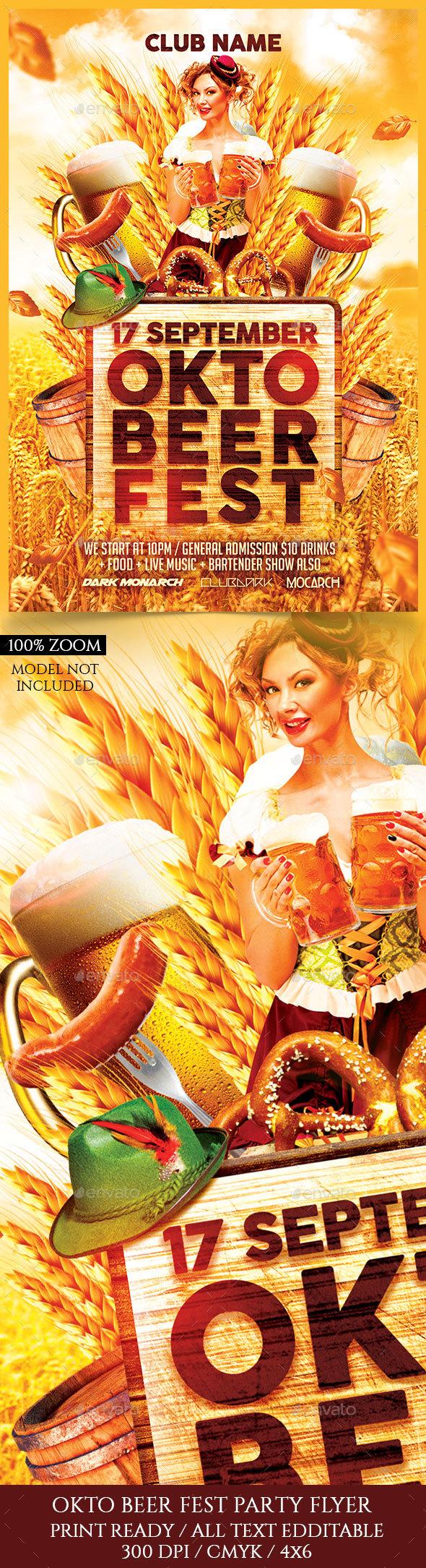 Oktobeer Fest Flyer - Holidays Events
