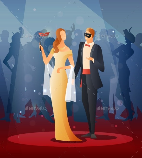 GraphicRiver Masquerade Party Illustrations 20532479