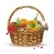 Mushrooms in Basket Composition