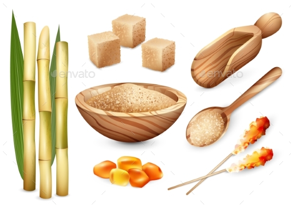 Cane Sugar Sweets Set - Flowers & Plants Nature