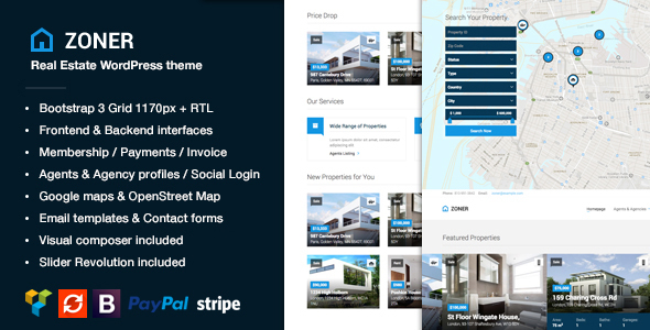 Zoner - Real Estate WordPress Theme - Real Estate WordPress