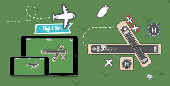CodeCanyon Flight Sim HTML5 Game 20501329