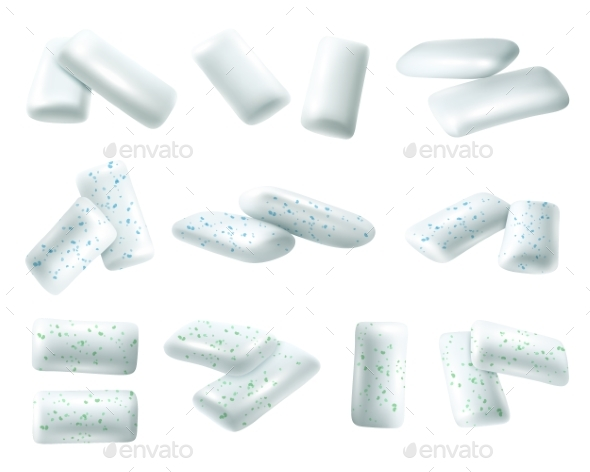 GraphicRiver Realistic Chewing Gums Set 20532577