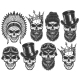 Set of Different Skull Characters