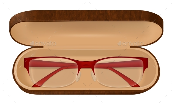 Eyeglasses in Case Illustration - Man-made Objects Objects