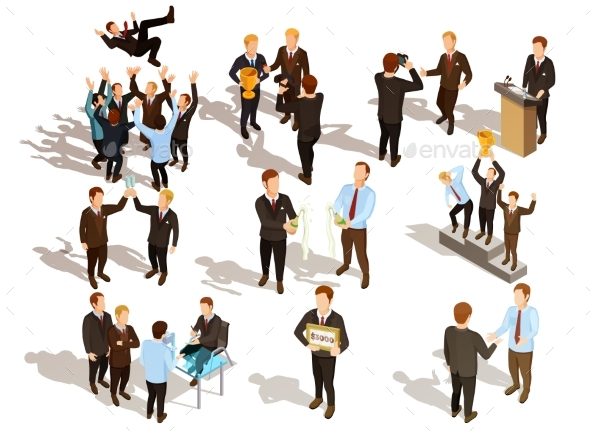 GraphicRiver Winner Business People Set 20532636