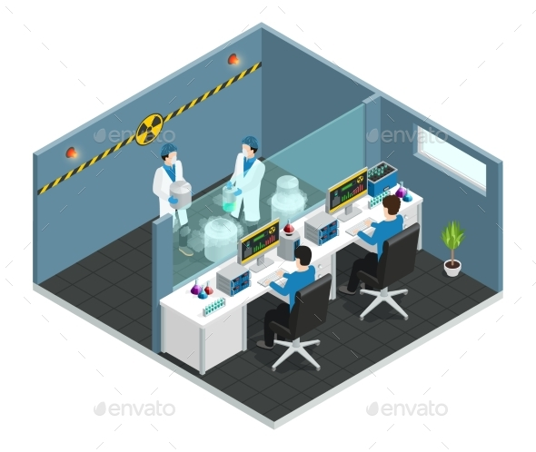 Scientific Laboratory Isometric Concept - Miscellaneous Vectors