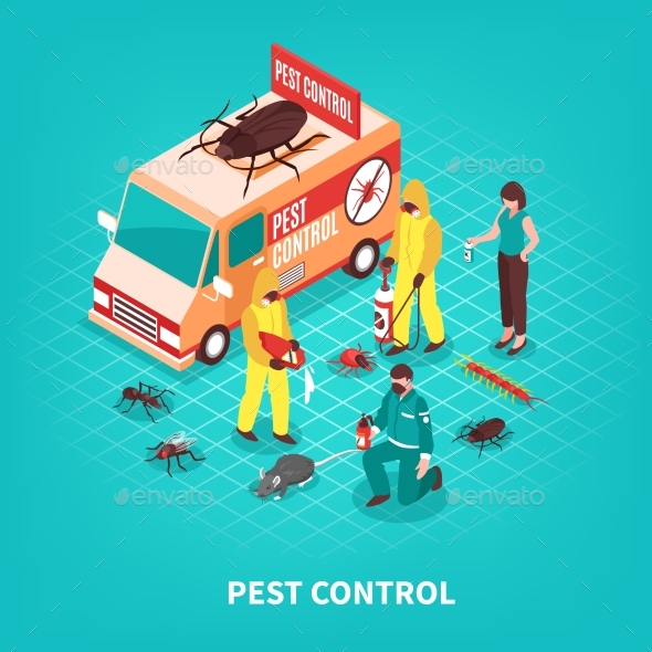 GraphicRiver Pest Control Isometric Illustration 20532658