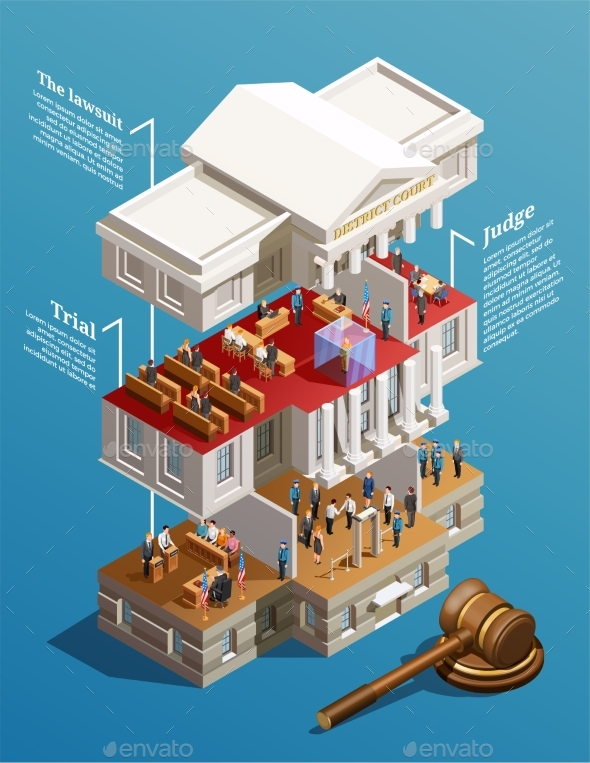 Judgement Hall Isometric Infographics - Buildings Objects
