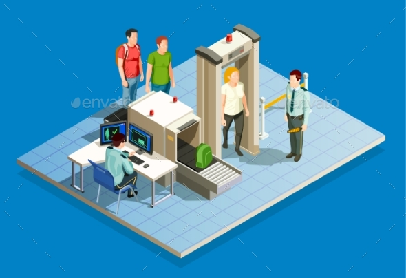 GraphicRiver Airport Security Check Composition 20532723