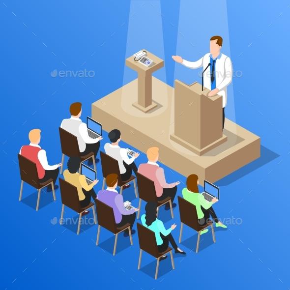 Doctors Conference Talk Composition - Health/Medicine Conceptual