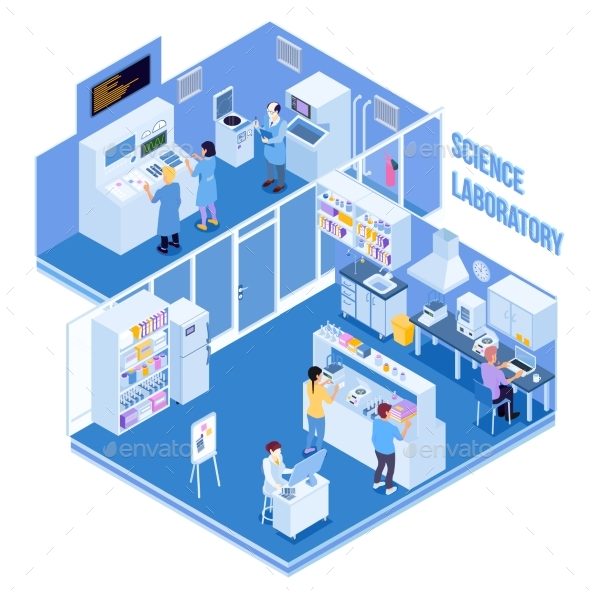 GraphicRiver Science Laboratory Isometric Illustration 20532851