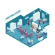 Professional Kitchen Isometric Illustration