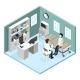 Patient In Doctors Office Vector Illustration