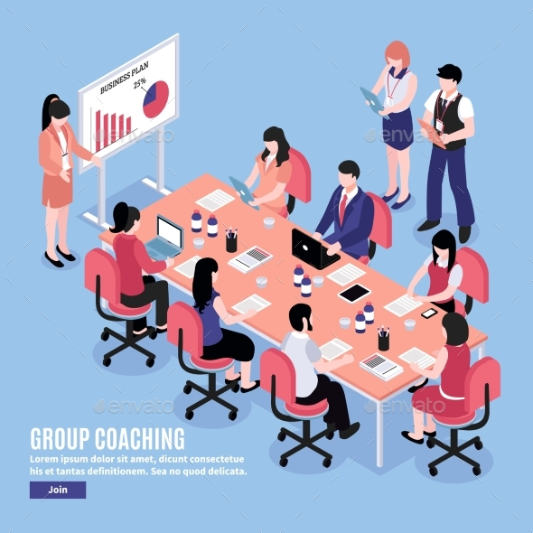 GraphicRiver Brainstorm Conference Illustration 20532935